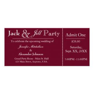 Tiefrote Jack-und Jill-Duschen-Karten-Einladung Werbekarte