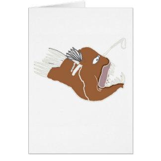 Tiefsee-Angler Grußkarte