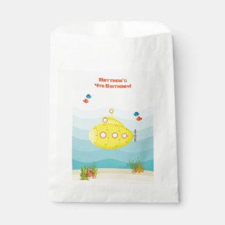 Tiefsee-gelbes Unterseeboot Geschenktütchen