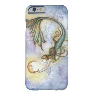 Tiefsee-Mond-Meerjungfrau-Fantasie-Kunst iPhone 6 Barely There iPhone 6 Hülle