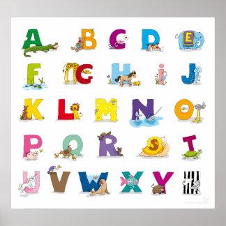 Tier-Alphabet Plakat
