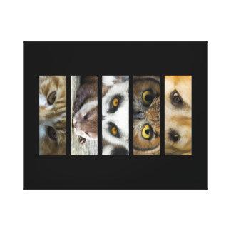 Tier-Augen-Landschaft Leinwanddruck