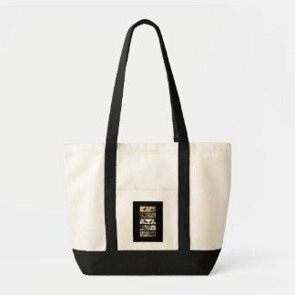 Tier-Augen-schwarze Tasche