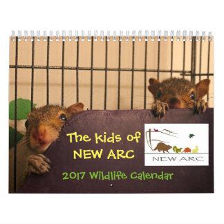 Tier-Baby-Kalender 2017 Wandkalender