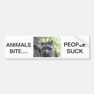 Tier-Biss-Leute sind zum Kotzen Autoaufkleber