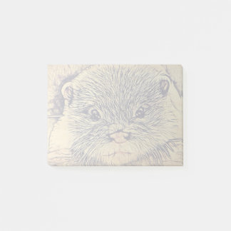 Tier-Cuddly niedlicher Seetier-Babyotter Post-it Klebezettel
