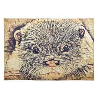 Tier-Cuddly niedlicher Seetier-Babyotter Tischset