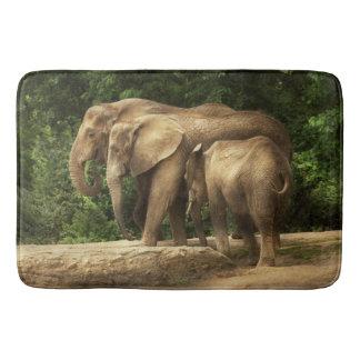 Tier - Elefant - feste Strickfamilie Badematten