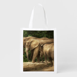 Tier - Elefant - feste Strickfamilie Wiederverwendbare Einkaufstasche