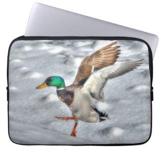 Tier-Foto Landungs-Stockenten-Enten-Drakes 4 Laptopschutzhülle