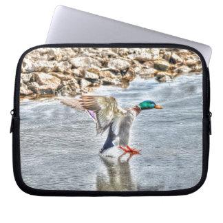 Tier-Foto Landungs-Stockenten-Enten-Drakes 8 Laptop Sleeve