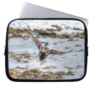 Tier-Foto Landungs-Stockenten-Enten-Drakes 9 Laptop Sleeve