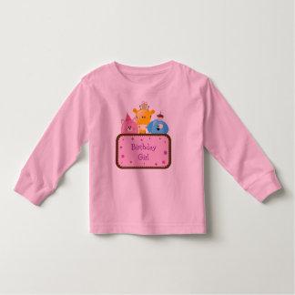 Tier-Geburtstags-Mädchen kundengerecht Kleinkinder T-shirt