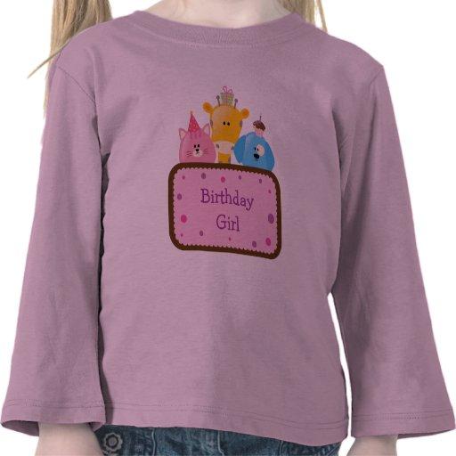 Tier-Geburtstags-Mädchen kundengerecht T Shirts