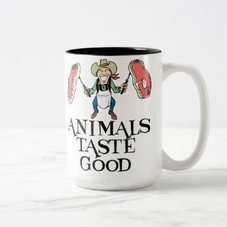 Tier-Geschmack gut Zweifarbige Tasse
