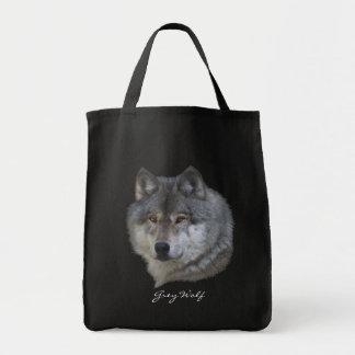 Tier-grauer Wolf Tier-Liebhaber Entwurf Tragetasche