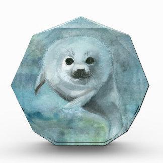 Tier-Harfen-Siegelwatercolor-Kunst Acryl Auszeichnung