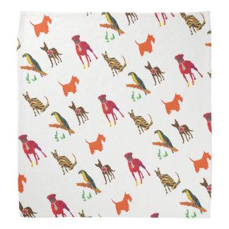 Tier-Haustier-Parade-Katzen-Hunde Toucan Kopftuch