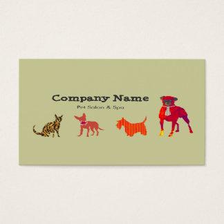 Tier-Hundekatzen-Haustier-Salon-   Wellness-Center Visitenkarte