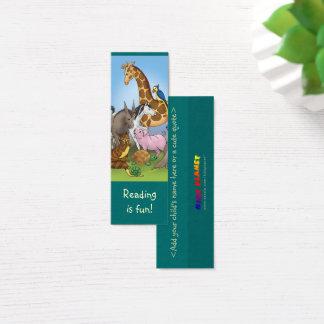 Tier-Lesezeichen für junge Buchliebhaber! Mini Visitenkarte