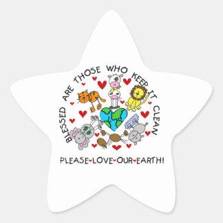 Tier-Liebe die ErdT - Shirts und -geschenke Stern-Aufkleber