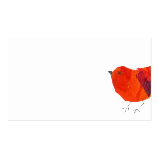 Tier-reizender roter kleiner Vogel Visitenkartenvorlagen