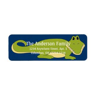 Tier-Rücksendeadressen-Aufkleber des Alligatord4