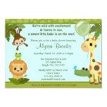 Tier-SAFARI-PARTY-Babyduschen-Einladungsaffe 12,7 X 17,8 Cm Einladungskarte