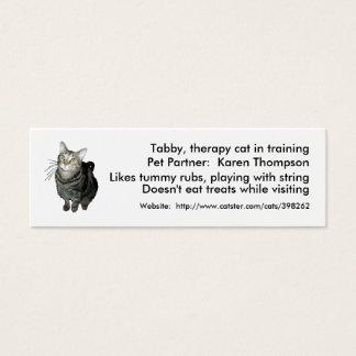 Tier-Unterstützte Mini Visitenkarte