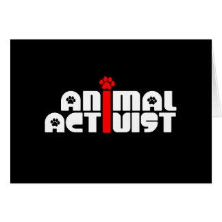 Tieraktivist Grußkarte