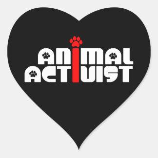 Tieraktivist Herz Sticker