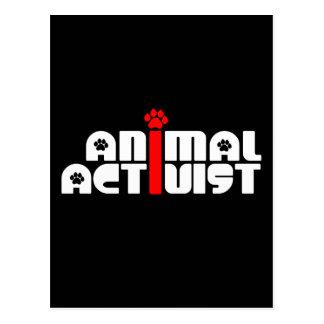 Tieraktivist Postkarte