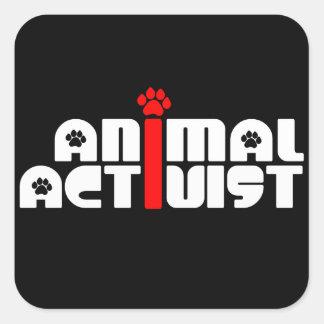 Tieraktivist Quadrat-Aufkleber