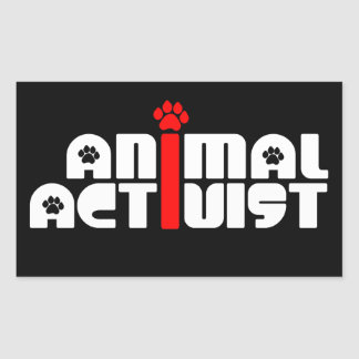 Tieraktivist Rechteckiger Aufkleber