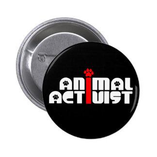 Tieraktivist Runder Button 5,1 Cm
