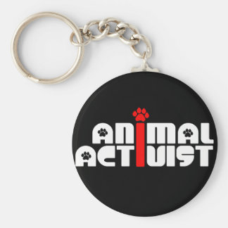 Tieraktivist Standard Runder Schlüsselanhänger
