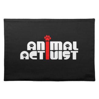Tieraktivist Tisch Sets