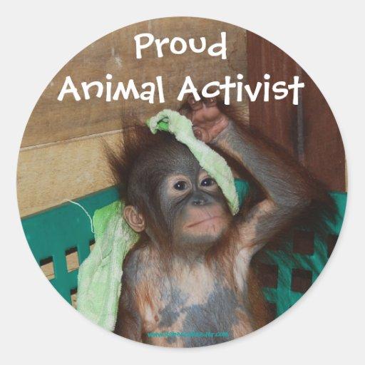 Tieraktivisten-Aufkleber