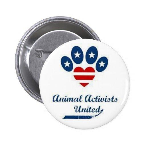Tieraktivisten-Knopf Anstecknadel