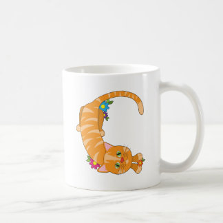 Tieralphabet-Katze Kaffeetasse