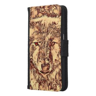 TierArtsStudio- fantastischer Wolf Samsung Galaxy S6 Geldbeutel Hülle