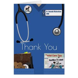 Tierarzt danken Ihnen im Blau Karte