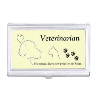 Tierarzt - Tatzen-Drucke auf meinem Herzen #2 Visitenkarten Dose