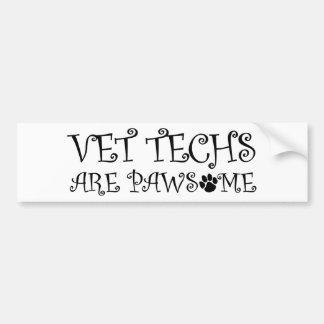 Tierarzt-Technologien sind Pawsome Autoaufkleber