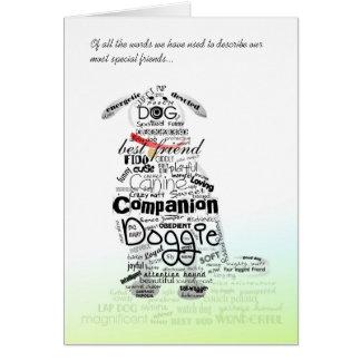 Tierarzt u. Geschäfts-Karte - HundeBeileids-Karte Karte