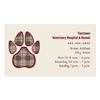 Tierarzt-u. Hundehütten-Geschäfts-Karte - Brown Visitenkarten Vorlagen