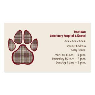 Tierarzt-u. Hundehütten-Geschäfts-Karte - Brown Visitenkarten