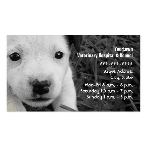 Tierarzt-u. Hundehütten-Geschäfts-Karte - Jack Rus Visitenkarten Vorlagen