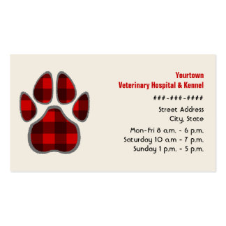Tierarzt-u. Hundehütten-Geschäfts-Karte - karierte Visitenkarten