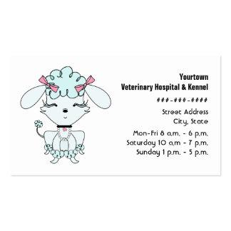 Tierarzt-u. Hundehütten-Visitenkarte - blauer Visitenkarten
